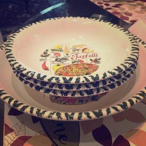Unique handmade spaghetti bowls set